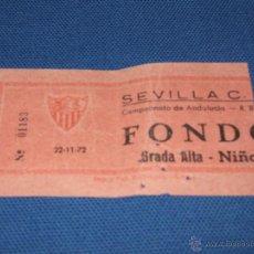 Coleccionismo deportivo: ESTADIO RAMON SANCHEZ PIZJUAN - SEVILLA F.C. - REAL BETIS - CAMPEONATO DE ANDALUCIA - 22/11/1972. Lote 43977466