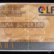 Coleccionismo deportivo: ENTRADA FUTBOL. LFP. R.C.D. ESPAÑOL - REAL SOCIEDAD . ESTADI OLIMPIC BARCELONA . 1999. Lote 44151912