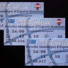 Coleccionismo deportivo: 2 ENTRADAS CORRELATIVAS . EUROBASKET-97 . CEREMONIA INAUGURAL . FIBA. Lote 119046270