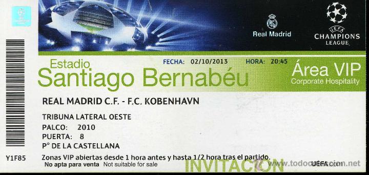 Entrada Futbol Football Ticket Real Madrid Kove Comprar Entradas De Fútbol Antiguas En Todocoleccion 44162888