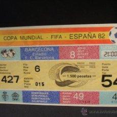 Coleccionismo deportivo: ENTRADA MUNDIAL ESPAÑA 82 - SEMIFINALES - PARTIDO 49 - ESTADIO F.C. BARCELONA - SIN CORTAR - . Lote 44238157