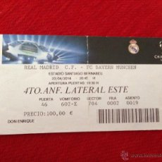 Coleccionismo deportivo: ENTRADA TICKET REAL MADRID BAYERN MUNICH MUNCHEN UEFA CHAMPIONS 2013 2014. Lote 44238447