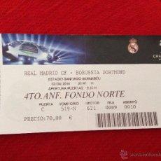 Coleccionismo deportivo: ENTRADA TICKET REAL MADRID BORUSSIA DORTMUND UEFA CHAMPIONS 2013 2014. Lote 44238510