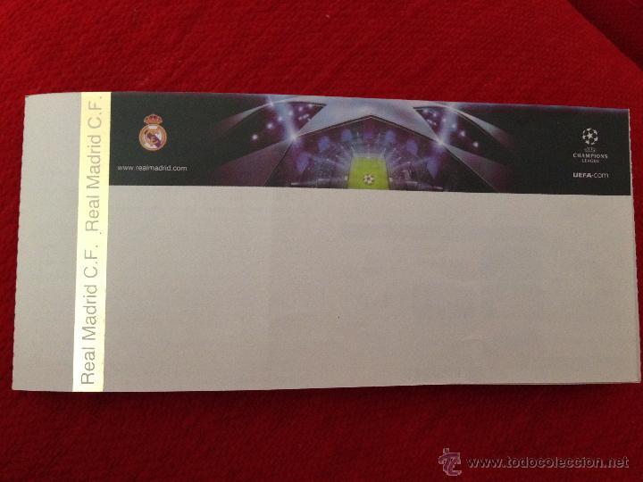 ENTRADA UNICA TICKET REAL MADRID UEFA CHAMPIONS LEAGUE 2013 2014 SIN IMPRIMIR (Coleccionismo Deportivo - Documentos de Deportes - Entradas de Fútbol)