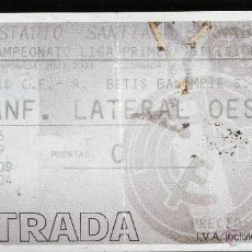 Coleccionismo deportivo: AG ENTRADA FUTBOL FOOTBALL TICKET REAL BETIS SEVILLA REAL MADRID ESPAÑA SPAIN. Lote 44274734