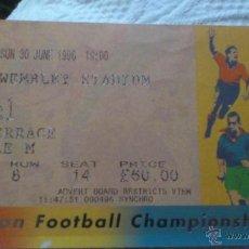 Coleccionismo deportivo: ENTRADA FINAL EUROCOPA 1996 - ALEMANIA - REPUBLICA CHECA. Lote 44306351
