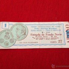 Coleccionismo deportivo: ENTRADA TICKET TROFEO SANTIAGO BERNABEU 1979 PARTIDO 1 REAL MADRID. Lote 44636191