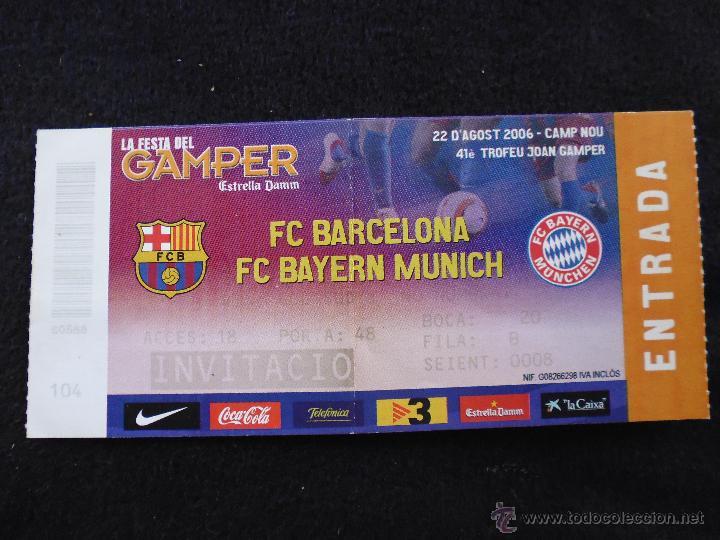 ENTRADA INVITACION JOAN GAMPER BAYER DE MUNICH FUTBOL CLUB FC BARCELONA F.C  BARÇA CF (Coleccionismo 8dd68cd06e02c