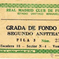 Coleccionismo deportivo: ENTRADA ESTADIO SANTIAGO BERNABEU AÑOS 60 - GRADA DE FONDO SUR - PUERTA N 36. Lote 44845393