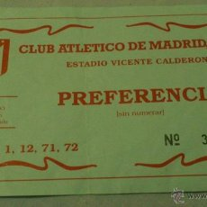 Coleccionismo deportivo: ENTRADA ATLETICO DE MADRID AÑOS 90 ESTADIO VICENTE CALDERÓN. Lote 44903572