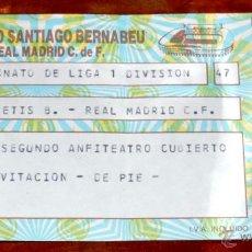 Coleccionismo deportivo: ENTRADA FUTBOL REAL BETIS B. - REAL MADRID C.F., CAMPEONATO DE LIGA DE PRIMERA DIVISION, ESTADIO SAN. Lote 44983335