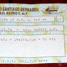 Coleccionismo deportivo: ENTRADA FUTBOL R. C. CELTA - REAL MADRID C.F., CAMPEONATO DE LIGA DE PRIMERA DIVISION, ESTADIO SANTI. Lote 44983358
