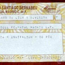 Coleccionismo deportivo: ENTRADA FUTBOL CD. SABADELL FC. - REAL MADRID C.F., CAMPEONATO DE LIGA DE PRIMERA DIVISION, ESTADIO . Lote 44983368