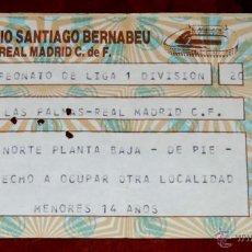 Coleccionismo deportivo: ENTRADA FUTBOL U.D. LAS PALMAS - REAL MADRID C.F., CAMPEONATO DE LIGA DE PRIMERA DIVISION, ESTADIO S. Lote 44983388