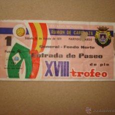 Coleccionismo deportivo: TROFEO CARRANZA 1972 SEMIFINAL. Lote 45229489
