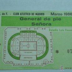 Collectionnisme sportif: ENTRADA VALENCIA - ATLETICO DE MADRID 1985-1986. Lote 45285047