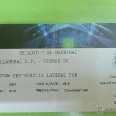Coleccionismo deportivo: ENTRADA VILLARREAL - ODENSE 2011-2012 (CHAMPIONS LEAGUE). Lote 45297132
