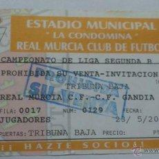 Coleccionismo deportivo: ENTRADA REAL MURCIA - GANDIA 1999-2000. Lote 45329914