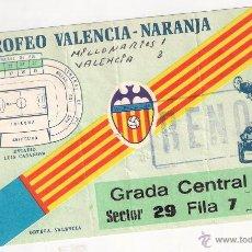Coleccionismo deportivo: VALENCIA C.F. - MILLONARIOS DE BOGOTA, XI TROFEO NARANJA, 1981. Lote 45614870