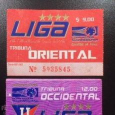 Coleccionismo deportivo: DOS ENTRADAS COPA NISSAN SUDAMERICANA - VS. INDEPENDIENTE VS.NEW OLD BOYS - ARGENTINA FUTBOL.. Lote 45720689