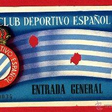 Coleccionismo deportivo: ENTRADA FUTBOL , REAL CLUB DEPORTIVO ESPAÑOL , ANTIGUA , ORIGINAL , EF3398. Lote 46208346