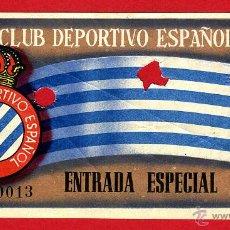 Coleccionismo deportivo: ENTRADA FUTBOL , REAL CLUB DEPORTIVO ESPAÑOL , ANTIGUA , ORIGINAL , EF3401. Lote 46208389