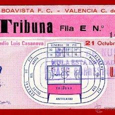 Coleccionismo deportivo: ENTRADA FUTBOL , VALENCIA CF BOAVISTA , COPA UEFA 1981 , ORIGINAL , EF3416. Lote 46209021