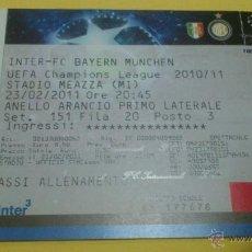 Coleccionismo deportivo: ENTRADA INTER MILAN - BAYERN MUNICH 2010-2011 (CHAMPIONS LEAGUE). Lote 46366219