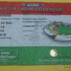 Coleccionismo deportivo: ENTRADA HUNGRIA - SUECIA 05-09-2009. Lote 46368568