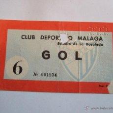 Coleccionismo deportivo: ENTRADA FUTBOL - ESTADIO DE LA ROSALEDA - CLUB DEPORTIVO MALAGA. Lote 46456328