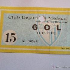 Coleccionismo deportivo: ENTRADA FUTBOL - ESTADIO DE LA ROSALEDA - CLUB DEPORTIVO MALAGA. Lote 46456372
