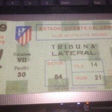 Coleccionismo deportivo: ENTRADA CLUB ATLETICO DE MARID PARTIDO 74 ESTADIO VICENTE CALDERON . Lote 46504264