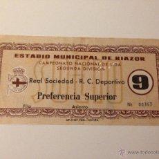 Coleccionismo deportivo: R418 ENTRADA TICKET DEPORTIVO CORUÑA REAL SOCIEDAD LIGA TEMPORADA 1963 1964. Lote 46655552