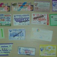Coleccionismo deportivo: LOTE 47 ENTRADAS CLUB DEPORTIVO MALAGA / MALAGA CLUB DE FUTBOL (AÑOS 80 Y 90). Lote 34286788