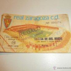Coleccionismo deportivo: VIEJA Y BONITA ENTRADA DE FUTBOL DEL REAL ZARAGOZA Y EL GRANADA 1977-78 LA ROMAREDA. Lote 46966959