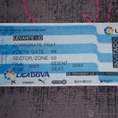 Coleccionismo deportivo: ENTRADA RCD ESPANYOL DE BARCELONA / LEVANTE UD - TEMPORADA 2014-15 - JORNADA 13 - PARTIDO DE LIGA. Lote 46992575