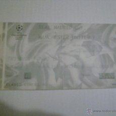 Coleccionismo deportivo: R.MADRID VS MANCHESTER UNITED CHAMPIONS LEAGUE 8-4-2003 . Lote 47080049