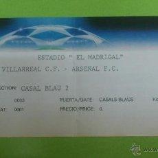 Coleccionismo deportivo: ENTRADA VILLARREAL - ARSENAL 2008-2009 (CHAMPIONS LEAGUE). Lote 47172944