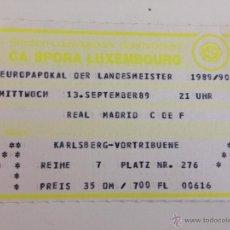 Coleccionismo deportivo: ENTRADA TICKET SPORA LUXEMBURGO LUXEMBOURG CHAMPIONS COPA EUROPA LEAGUE 1989 1990 . Lote 47291615