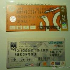 Coleccionismo deportivo: LOTE ENTRADAS FUTBOL FRANCES .--. Lote 47722411