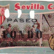 Coleccionismo deportivo: ENTRADA DE 7 DE FEBRERO DE 1954 - SEVILLA C..F. VALENCIA CLUB DE FUTBOL . Lote 48035907