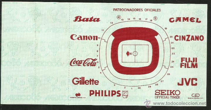 Coleccionismo deportivo: ENTRADA TICKET SEMIFINAL COPA MUNDIAL DE FUTBOL MEXICO 86- ESTADIO AZTECA- ARGENTINA- BELGICA- FIFA - Foto 3 - 48980897