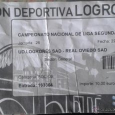 Coleccionismo deportivo: ENTRADA UD LOGROÑES VS REAL OVIEDO. Lote 48876498