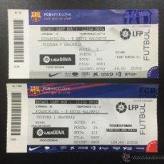 Coleccionismo deportivo: ENTRADAS FC BARCELONA- REAL BETIS BALOMPIE LIGA 2011/2012 Y 2012/2013 CAMP NOU TICKET ENTRADA ENTERA. Lote 49005025