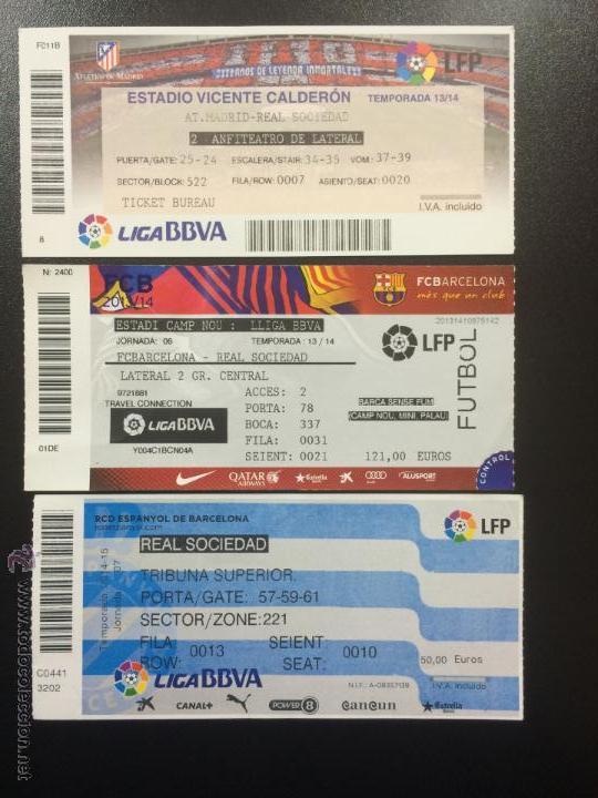 fd5b90e83 3 entradas real sociedad vs. atletico madrid y - Comprar Entradas de ...