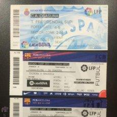 Coleccionismo deportivo: 3 ENTRADAS ENTERAS CA OSASUNA VS. FC BARCELONA, ESPAÑOL 11/12, FC BARCELONA 12/13 ENTRADA TICKET.. Lote 49006572