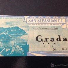 Coleccionismo deportivo: R413 ENTRADA TICKET SAN SEBASTIAN REAL SOCIEDAD ALFARO TERCERA DIVISION 1963 1964 ATOCHA. Lote 49026315