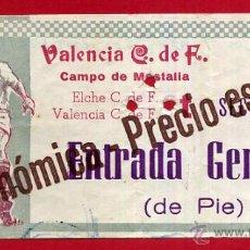 Coleccionismo deportivo: ENTRADA FUTBOL , VALENCIA CF ELCHE , CAMPO MESTALLA , 1964 , ORIGINAL , EF3586. Lote 49559230