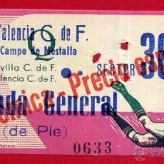 Coleccionismo deportivo: ENTRADA FUTBOL , VALENCIA CF SEVILLA , CAMPO MESTALLA , 1967 , ORIGINAL , EF3595. Lote 49559271