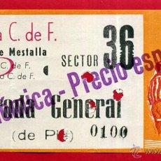 Coleccionismo deportivo: ENTRADA FUTBOL , VALENCIA CF ELCHE , CAMPO MESTALLA , ANTIGUA , ORIGINAL , EF3596. Lote 49559274